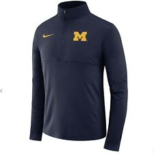 Michigan Wolverines Nike NCAA Team Player Issue Core 1/2 Zip Pullover $70