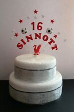 Liverpool personalised name, age birthday football cake topper, cake decoration