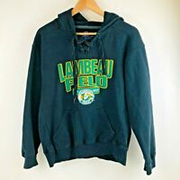 Vintage Lambeau Field Green Bay Packers Hooded Sweatshirt Adult Small Black