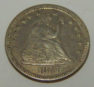 1857 - Seated Liberty Quarter - 25¢