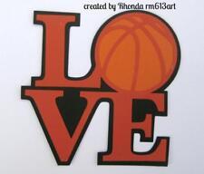 LOVE BASKETBALL TITLE  boy girl sport scrapbook premade paper piecing by Rhonda