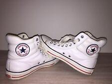 Converse Chucks Leder Gr 41 weiß high Top Sneakers Weiße Chucks Lederchucks