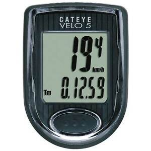 Cateye Cycling / Bicycle / Bike Velo 5 Wired Cycle Computer