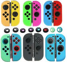For Nintendo Switch Joy-Con Animal Crossing Silicone Case+4pcs Thumb Grip Caps