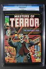 MASTERS OF TERROR #2 Invisible Man 1975 H.G.WELLS Bloch REH Lovecraft CGC 9.6