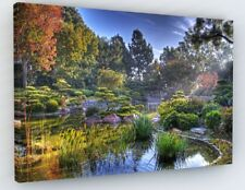 JAPANESE LANDSCAPE ZEN GARDEN CANVAS PICTURE PRINT CHUNKY FRAME LARGE #A83