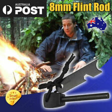 8mm Flint Rod Camping Survival Fire Starter Lighter (FULL Magnesium Rod) Hot