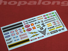 Scalextric/Slot Car 1/32 Waterslide Decals (with white print)