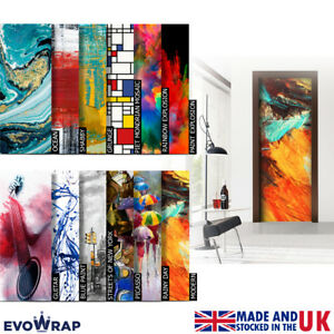 Self-Adhesive Abstract Art Door Wrap (Wall Wood Fridge) Mural Sticker Decal