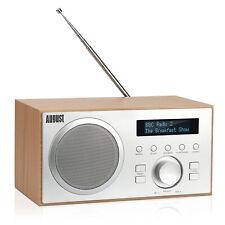 More details for dab radio with bluetooth fm dab+ digital tuner, alarm clock aux usb mains power