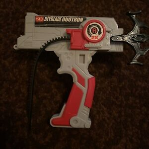 Hasbro Beyblade V Force Red/Gray Duotron Launcher Plastic Old Generation