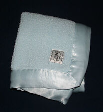 Little Giraffe Blue Plush Satin Trim Luxe Baby Blanket