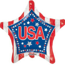 """USA STARS AND STRIPES 4TH JULY CELEBRATION 18"""" STAR SHAPED FOIL BALLOON!"""