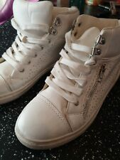 Atmosphere White Trainers Size 5