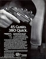 1983 COLT 380 Government Pistol AD Collectible Firearms Gun Advertising