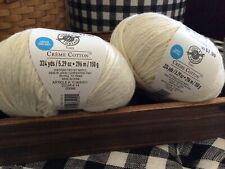 Set Of 2/ Loops & Threads Crème Cotton Yarn - #14 Cream-324 yds 5.29 oz