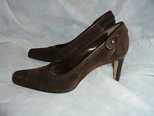 SERGIO ROSSI WOMEN'S BROWN SUEDE LEATHER SLIP ON SHOES SIZE UK 6 EU 39 NWOT