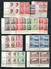 Australia KGVI and QEII  blocks of 4 with many imprint blocks MNH