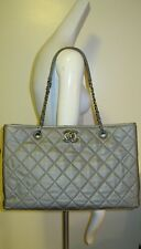 100% Authentic  CHANEL Shopping handbag,SILVER/GREY, Large, NEW without tag