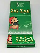 1 BOX zig-zag green  25 packs Rolling papers cigarette  50Leaves