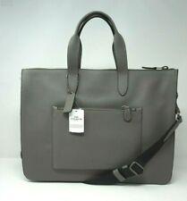 Coach Men's Metropolitan Pebble Leather Heather Grey Soft Briefcase 32249