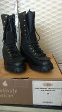 """Wesco Firestormer 10"""", fits like 7-7.5, actual size 8B ladies' NFPA logger"""