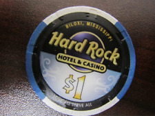 $1 HARD ROCK Biloxi MS Casino Chip for Collection New Design Gaming Poker
