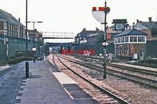 PHOTO  NEWBURY WEST SIGNAL BOX & STATION PLATFORM 1976