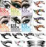Temporary Eye Tattoo Eyeliner CRYSTAL Eyeshadow Face Sticker Transfer Designs GB