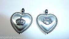 Alraune, corazón con corona, GRAN plasticidad, COLGANTE DE PLATA 925