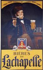 """""""BIERES de LACHAPELLE"""" Affiche originale entoilée litho G. RIPART 71x104cm"""