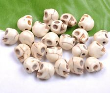 Wholesale 20PCS white Turquoise Skull Head Spacer Beads 10X8MM SH1296