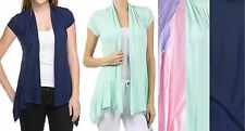 Pink, Mint Green or Navy Blue Cap Sleeve Drape Bolero/Shrug/Cardigan Plus