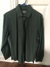 Kenneth Cole Reaction Mens Dress Shirt Green 16 32-33 Slim Fit