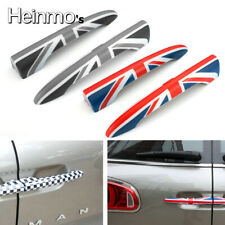 Grey Union Jack Rear Trunk Door Handle Cover Sticker For MINI Cooper Clubman F54