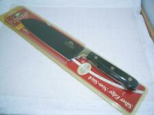 "Chicago Cutlery Silver Edge Non-Stick 7"" Santoku Knife Onyx Polymer Handle New"
