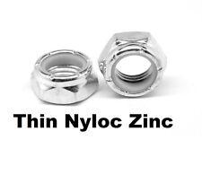 "Qty 100 Jam Nyloc Nut 5/16"" UNF Zinc Plated Steel Grade 5 Lock Insert ZP"