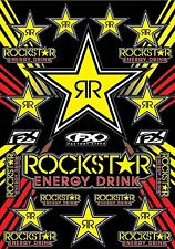 "Factory Effex Rockstar Sticker Sheet 14"" x 20"" KTM MX Enduro Racing Dirtbike"