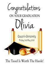 Graduation Greeting Card Fully Personalised - Male / Female - FREEPOST