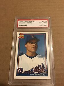 Ivan Rodriguez 1991 Topps Traded Rookie Card, Graded PSA 10, Gem Mint, Centered