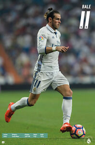 GARETH BALE Real Madrid CF SUPERSTAR ACTION 2017 Official Soccer Poster
