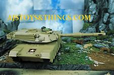 M1A2 Tank US Army NEW Remote Control AWW Ind DGL Group Lights 4749 Desert Tan