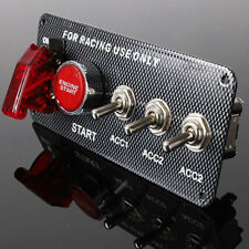 Racing Car Ignition Switch Panel W/Engine Start Push Button LED Toggle 12V