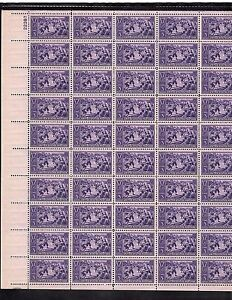 MINT  SHEET SCOTT#855, 3C STAMP BASEBALL SHEET OF 50 MNH OG BCV $100