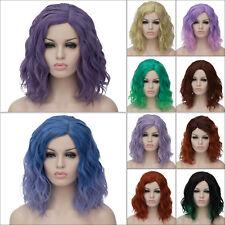 40cm Wig Lolita Medium Women Hair Fancy Curly Halloween Dress Cap Cosplay U