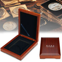 """55"""" inch Wooden Single Coin Display Storage Box Collectible Case For Coins Medal"""
