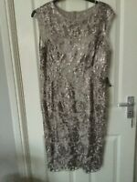 Adrianna Papell Sequin Lace Lined Dress Size 18 Bnwt RRP £169