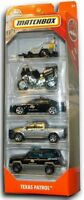 MATCHBOX 2018 Texas Patrol Police Vehicles. 5 PACK. FMV35. New in Box!
