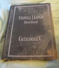 ME-143 Colwell Lead Co, 1920's Bathroom Plumbing Fixture Accessory Catalog Huge