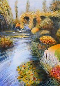 Rolf RAFFLEWSKI : Jardins de Giverny (3) LITHOGRAPHIE originale signée, 600 ex